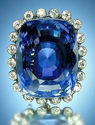 Logan Sapphire - one of the largest faceted gem-quality blue sapphires in existence
